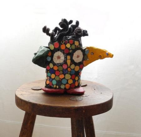 sculpture mosaïque hibou