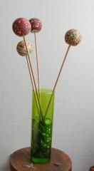 boule décorative, polystyrène, émaux de briare, décoration, bouquet