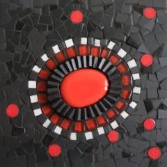 tableau mosaïque contemporaine, tableau mosaïque abstraite, tableau mosaïque flamenco,