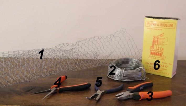 Mat riel pour sculpture sur grillage antigone mosa que for Comfabriquer une applique
