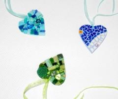 coeur en mosaïque à suspendre,coeur en mosaique à suspendre,coeur en mosaic à suspendre