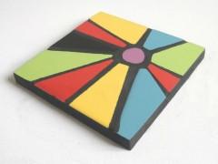 dessous de plats mosaïque contemporaine, dessous de plats mosaïque design, dessous de plats mosaïque multicolore, faïence, little market