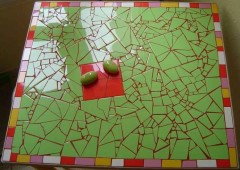 table, faïence, joint, chcolat, vert anis, rouge, design, moderne