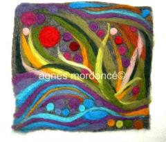 laine feutrée, créations laine feutrée, sac laine feutrée, pochette laine feutrée