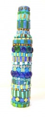 bouteille mosaïque, bouteille mosaic, bouteille décoration, soliflore mosaïque