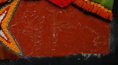 mosaïque résidus colle, tutoriel mosaïque, tableau mosaïque