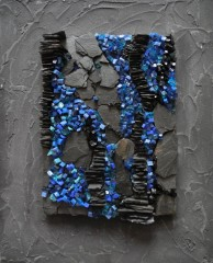 tableau mosaique smalt et ardoise, tableau mosaïque smalt et ardoise, tableau mosaic smalt et ardoise, tableau art moderne mosaïque smalt et ardoise