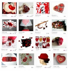 cadeau saint Valentin, bougeoir, littlemarket