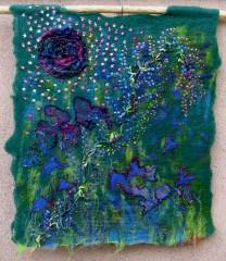 Hundertwasser, sac, tissu, panneau mural
