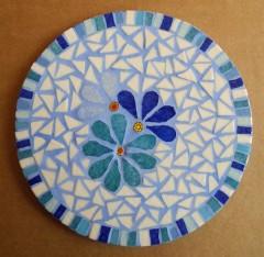 dessous de palt mosaïque, dessous de plat mosaic fleuri, sous plat mosaïque fleuri, sou plats mosaic fleuri