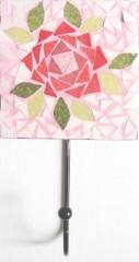patère mosaïque romantique,accroche serviette mosaïque romantique,porte torchon mosaïque romantique,décoration cuisine,décoration romantique salle de bains