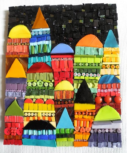 tableau mosaïque orient, tableau mosaic, tableau mosaïque contemporain, art moderne, contes des une et mille nuit, orient, Istanbul, smalts, pâte de verre albertini, contes