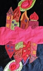 patchwork, tissu, sacs,